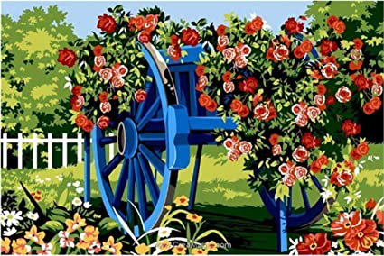 Needlepoint Canvas Gobelin Tapestry SEG Lacharue Bleue 30 X 40 928.351