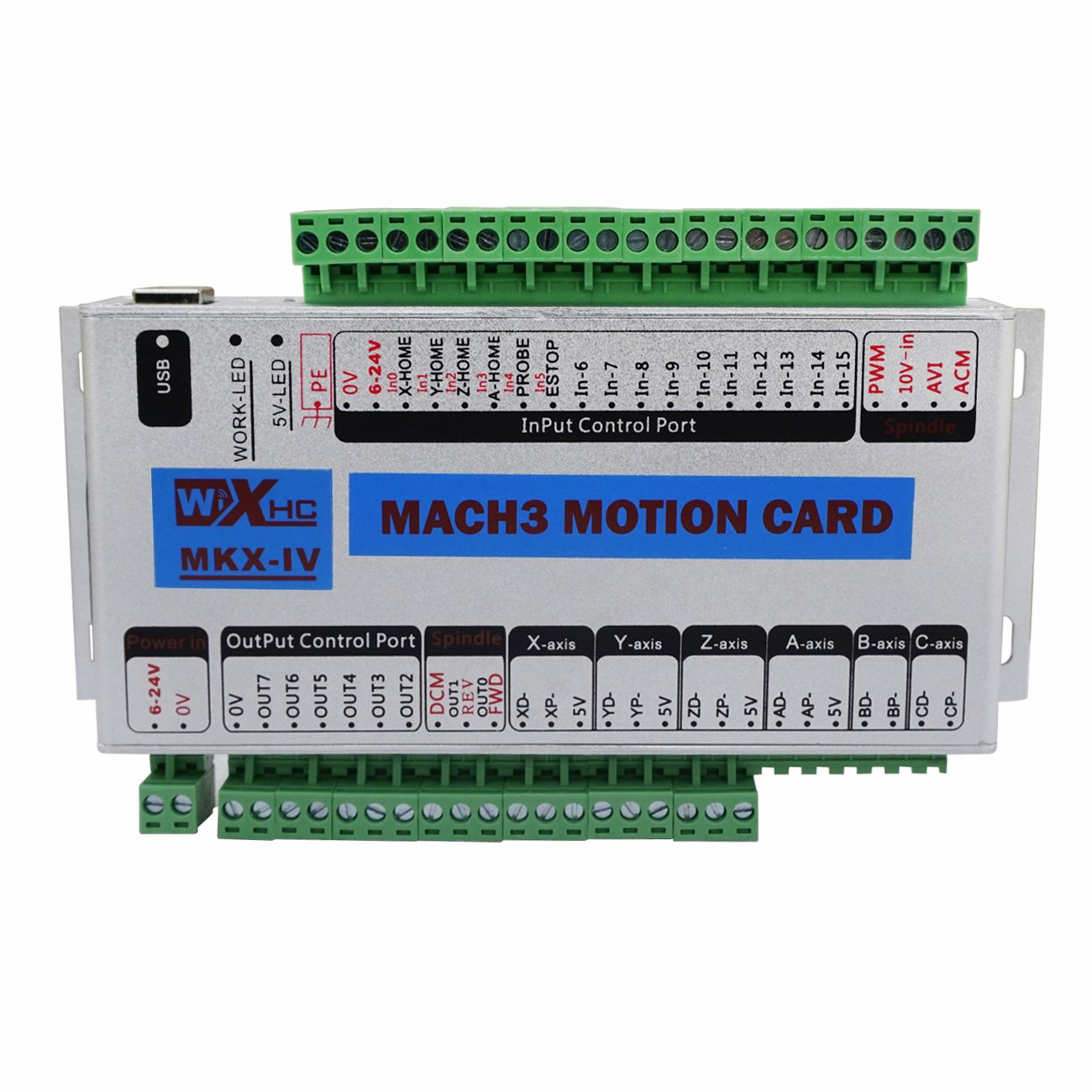 ECO-WORTHY CNC MACH3 USB 3 Axis 400KHz Breakout Board Interface Motion on