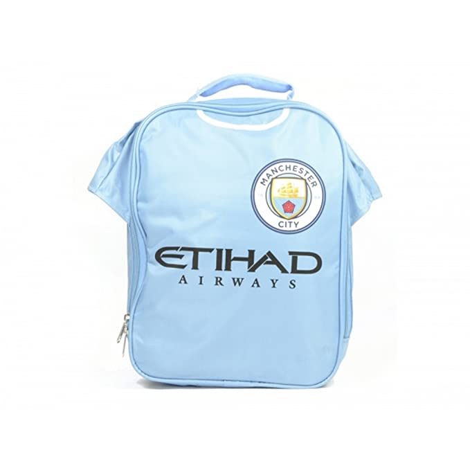 Manchester City FC Official Soccer Kit Lunch Bag (One Size) (Light Blue) 353c46bfe