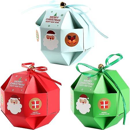 Feelava Scatole di Caramelle di Natale 12 Pezzi Scatole di Regali
