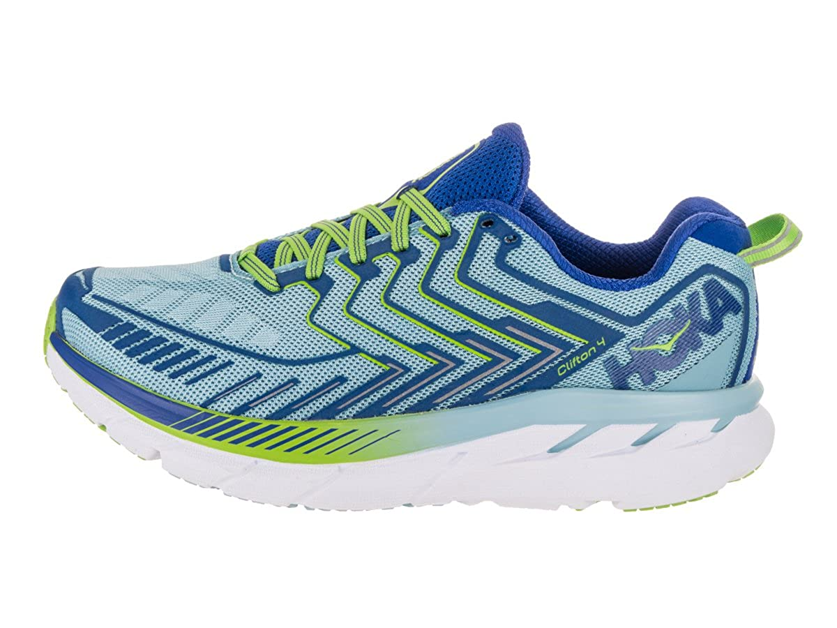 HOKA ONE ONE Women s Clifton 4 Running Shoe Sky Blue Surf The Web Size 10 M US