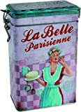 Out of the blue 101904 Metall-Kaffeedose, La Belle Parisienne, circa 19 x 12 cm