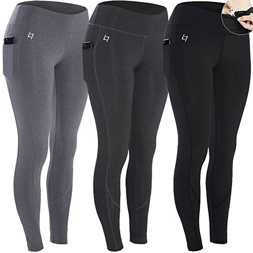 773b49427d9 FITTIN Women's Workout Leggings Capris with Pocket - Yoga Pants for Running  Sports Fitness Gym