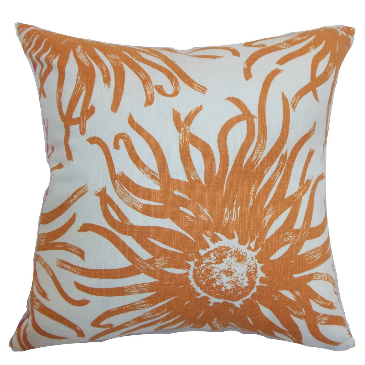 The Pillow Collection Ndele Floral Bedding Sham Papaya Queen//20 x 30