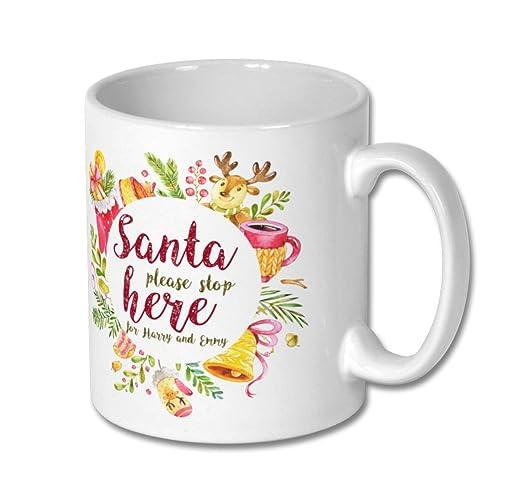 personalized christmas mug gift mugs personalize with any name