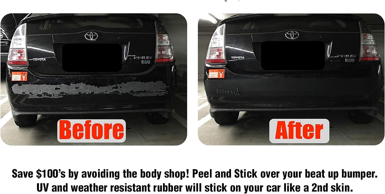 Bumper Protection /& Guard Bumper Repair Alternative BumperX 5 Width Peel /& Stick Rubber Bumper Guard Protect Your Rear car Bumper