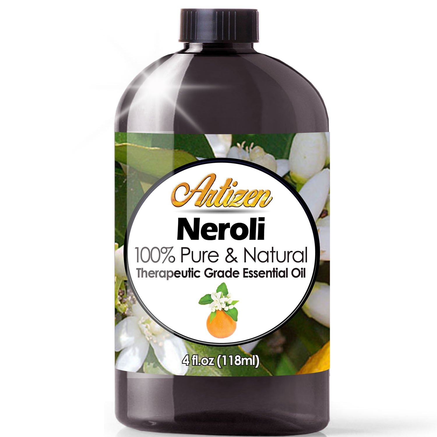 Artizen Neroli Essential Oil (100% Pure & Natural - UNDILUTED) Therapeutic Grade - Huge 4oz Bottle - Perfect for Aromatherapy, Relaxation, Skin Therapy & More! by Artizen