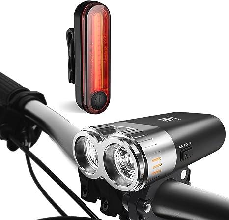 Luces de bicicleta, degbit USB Batería Set de luces para bicicleta ...