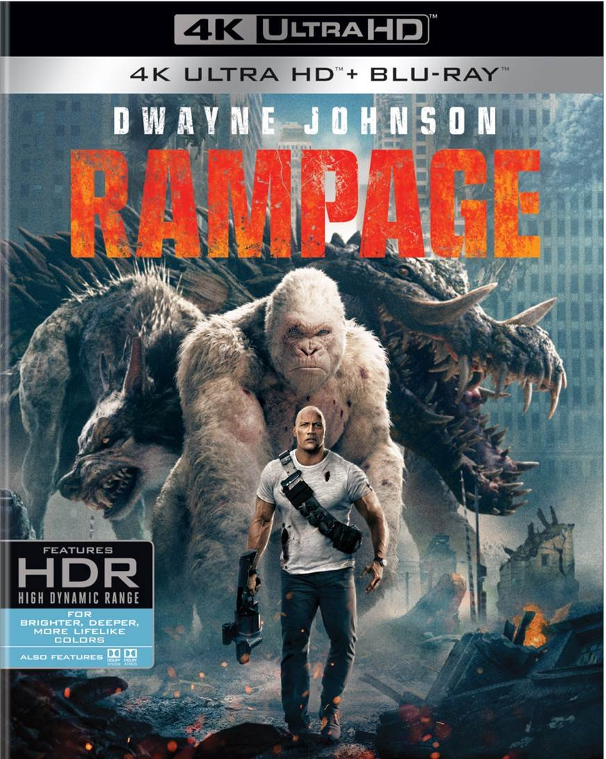 Blu-ray 3D : Rampage (With Blu-Ray, 4K Mastering, Standard Edition, Digital Copy, 2PC)