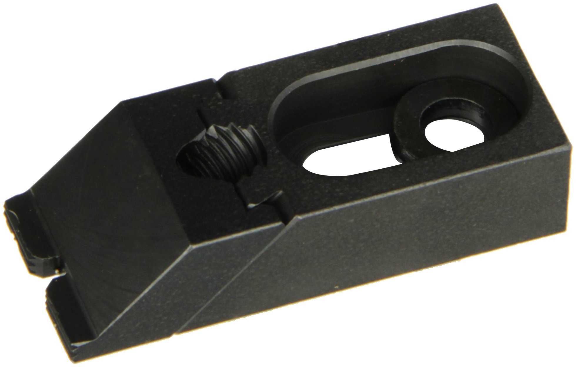 Te-Co 33819 Nuzzler Black Oxide 1018 Steel Low Grip Edge Clamp, 5/16'' Bolt Size, 2-3/8'' Length x 1'' Width x 5/8'' Height