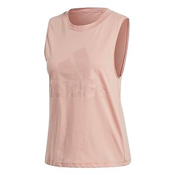 Adidas ESS Soli SL tee Camiseta, Mujer, Rosa (Rostra), 2XL