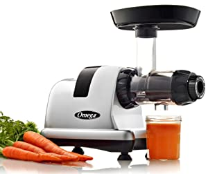 Omega Slow Masticating Juicer Extractor and Nutrition Center, 200-Watt, Silver (Discontinued by Manufacturer)
