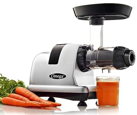 Omega Juicers j8007s 5ª generación centro de nutrición HD exprimidor, Plata/Negro