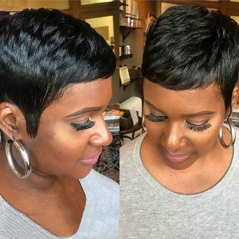 AIWEISE Human Hair Pixie Wigs for Black Women Short Pixie Wigs Human Hair  Short Wigs