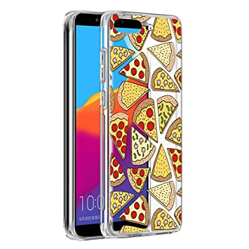 info for 07fbe 0dc68 Huawei Y6 2018 Case, Eouine Phone Case Transparent Clear with Pattern  [Ultra Slim] Shockproof Soft Gel TPU Silicone Back Cover Bumper Skin for  Huawei ...