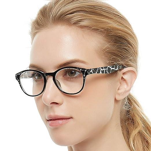 830f3766eaf0 OCCI CHIARI Lightweight Designer Acetate frame Stylish Reading Glasses For  Women (5004-Black