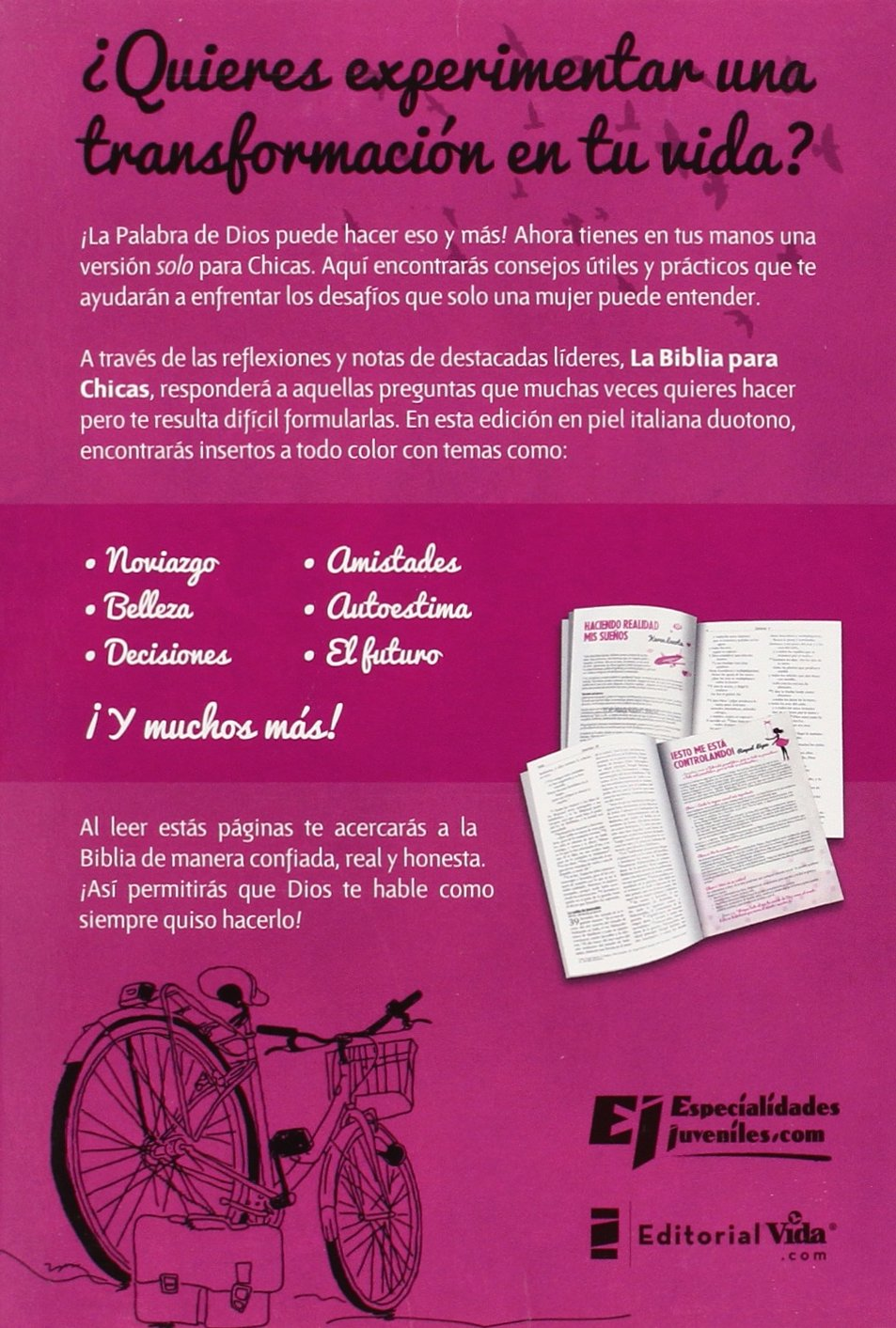 Santa Biblia para chicas NVI (Especialidades Juveniles) (Spanish Edition): Zondervan: 9780829765632: Amazon.com: Books