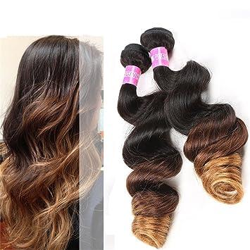 Amazon Com Ms Mary Hair Brazilian Loose Wave 3 Tone Ombre Hair
