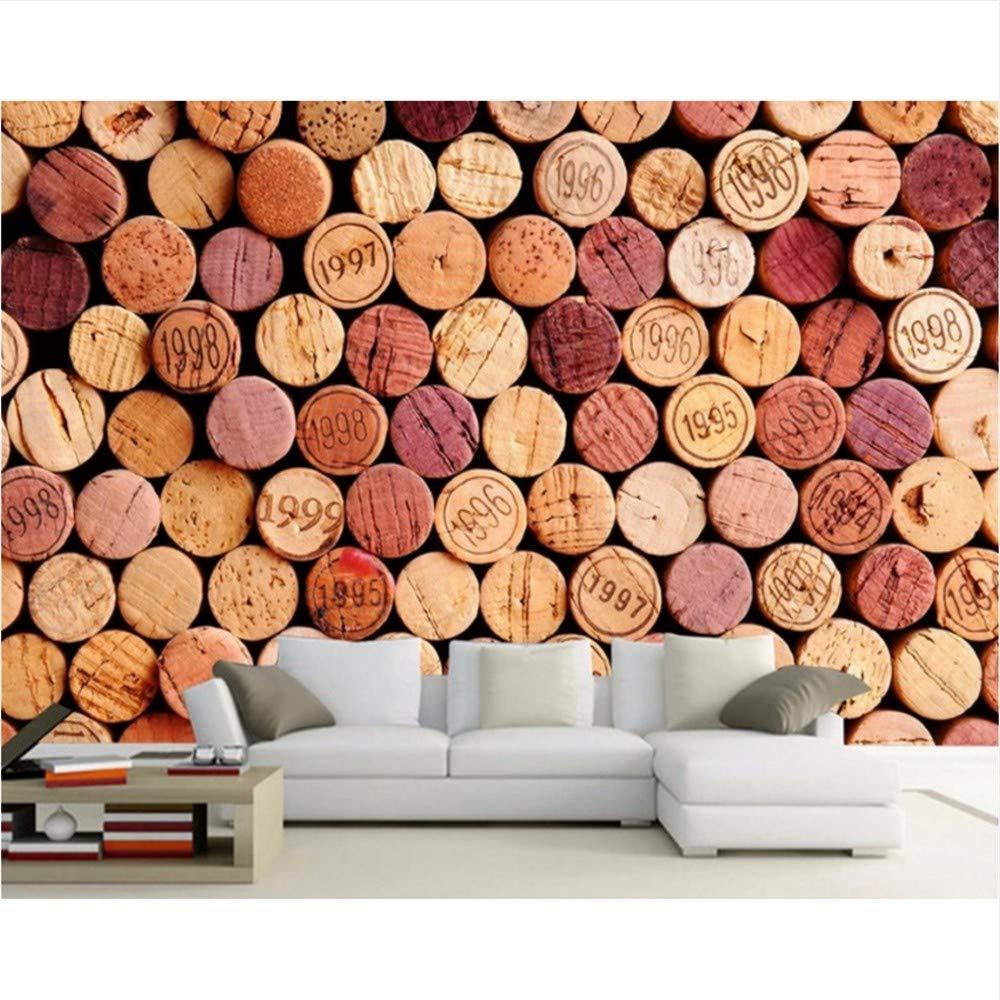 Weaeo バーレストランクリエイティブシンプルな写真の壁紙カスタム3D壁画のワインボトルコルクレストランの装飾壁紙-350X250Cm B07HF7H8FK 350X250CM 350X250CM