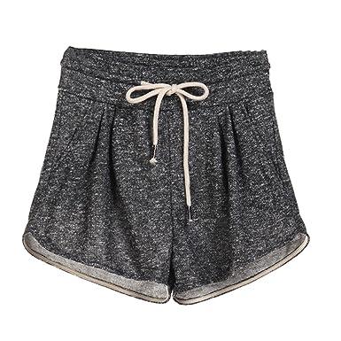 077567965f Arcweg Short Femme D'été 6 Couleur Sport Yoga Gym Casual Plage Course en  Coton