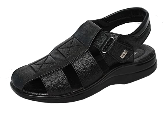 MAGIC TREE Leather Sandal for Men-033 Men's Fashion Sandals at amazon