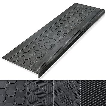 Amazon.com: Indoor & Outdoor Bullnose Rubber Non-Slip Stair Treads ...