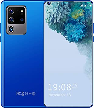 Unlocked Smartphones, S30U PRO Android Phones Unlocked 2GB+16GB, 6.82in Full HD Screen, Dual SIM Unlocked Cell Phones, 3500mAh Battery, Face ID & Fingerprint Lock, GPS, WiFi(Blue)