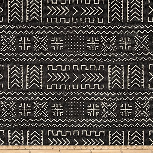 - Covington Fabrics & Design Covington Mazinda Tribal Jacquard Onyx Fabric by The Yard, Charcoal/Black/Beige