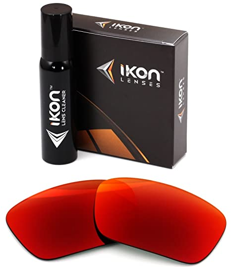 9cd6f9cc0fe Polarized Ikon Iridium Replacement Lenses for Oakley Fuel Cell Sunglasses -  + Red Mirror