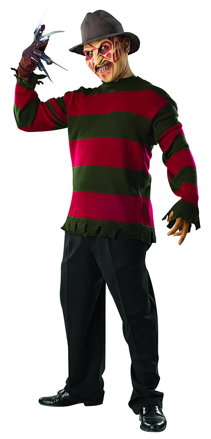 6c7fe52b118 Amazon.com  Rubie s Costume Men s Nightmare On Elm St Deluxe Freddy Sweater   Clothing
