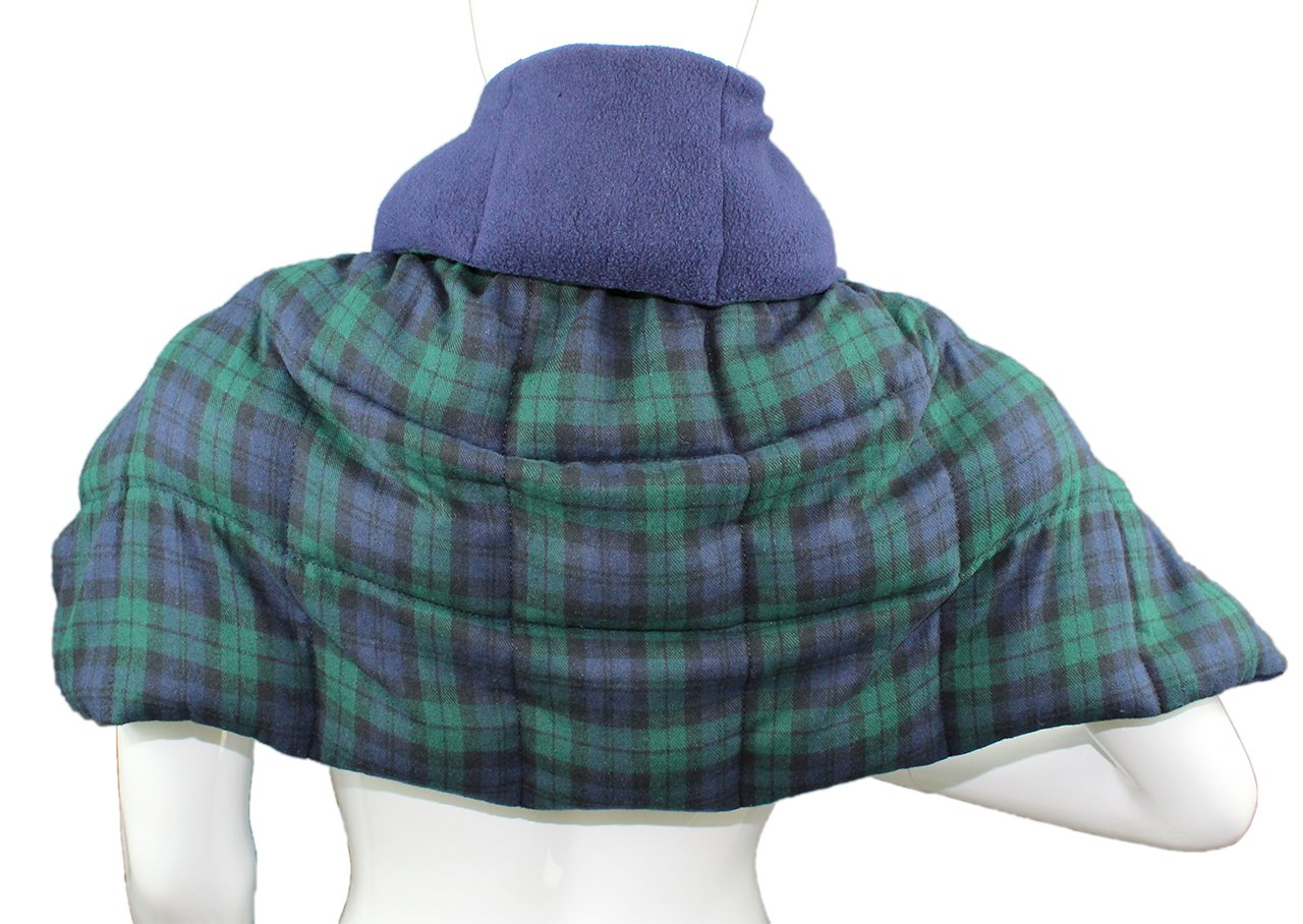Body Shawl - Black Watch Flannel - Hot or Cold Therapy Pack by Grampa's Garden