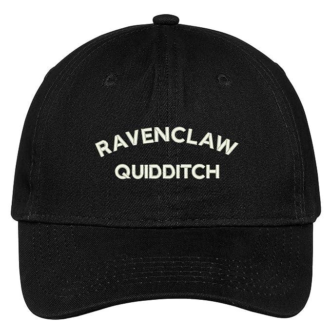 08d48c07 Trendy Apparel Shop Ravenclaw Quidditch Embroidered Soft Cotton Adjustable  Cap Dad Hat - Black