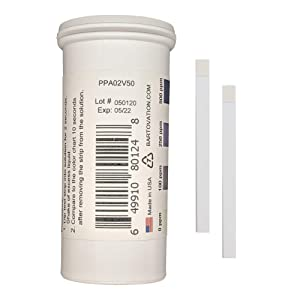 Peracetic Acid Test Strips, High Level, 0-500 ppm [Vial of 50 Strips]