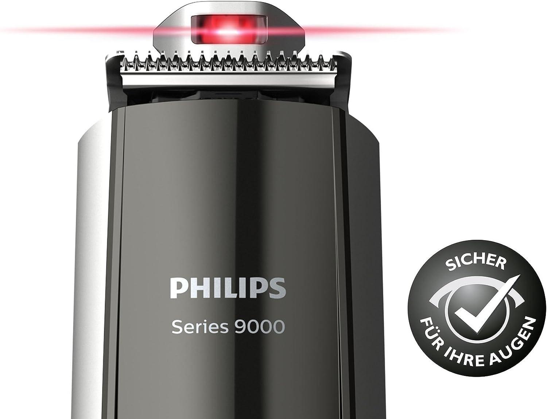 Philips BT9297/15 - Barbero con guía láser, incluye recortador de ...