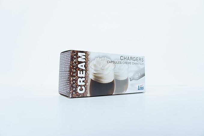 Compra Cargadores de Crema (Caja de 1200) - Óxido Nitroso (N2O) Gas para Dispensador de Crema Batida en Amazon.es