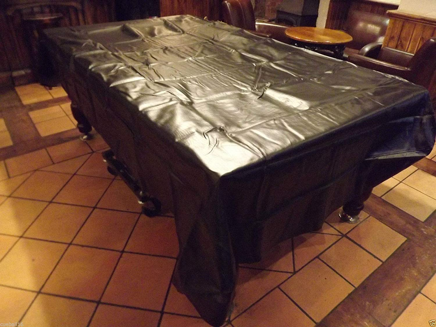 GSE Games /& Sports 7-Foot Heavy Duty Leatherette Billiard Table Dust Cover Pool Table Cover Black and Brown Available