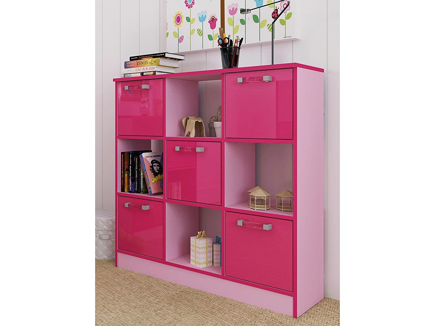 Right Deals UK Ottawa Caspian Childrens Bedroom Storage Shelving Cube  Cupboards   Blue Pink Two Tone (Pink, 3x3): Amazon.co.uk: Kitchen U0026 Home
