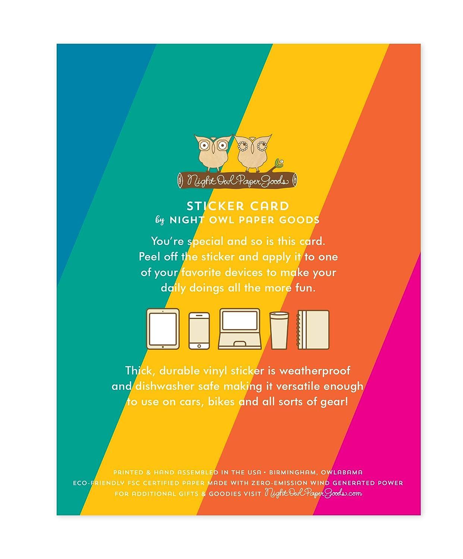Night Owl Paper Goods Sunny Rainbow Sticker Birthday Card Multicolor