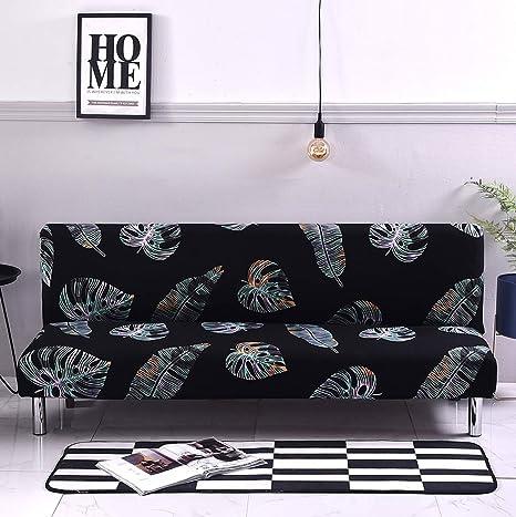 Amazon.com: XZ Funda de sofá cama elástica sin brazo fundas ...