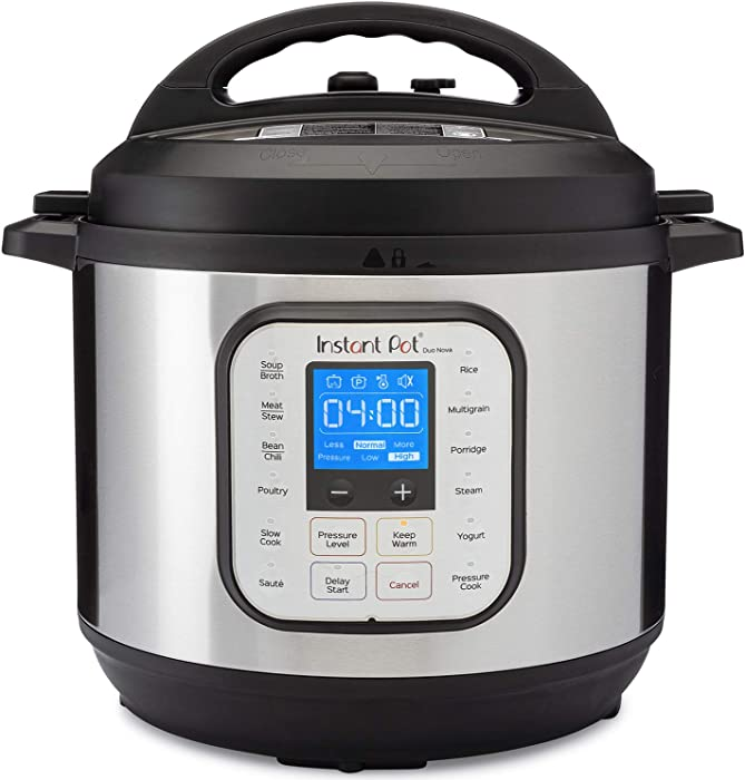 Instant Pot Duo Nova Pressure Cooker 7 in 1,  8 Qt, Best for Beginners