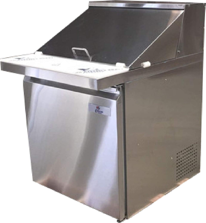 12 Pan Mega Top Sandwich Prep Table 7 Cu Ft. Vortex Refrigeration Commercial 1 Door 27