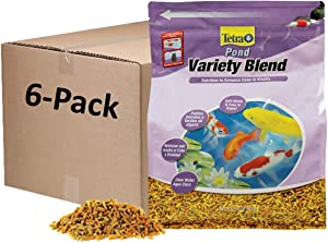 Tetra Pond Variety Blend, Pond Fish Food, for Goldfish and Koi, 1.32 Pounds, Pack of 6