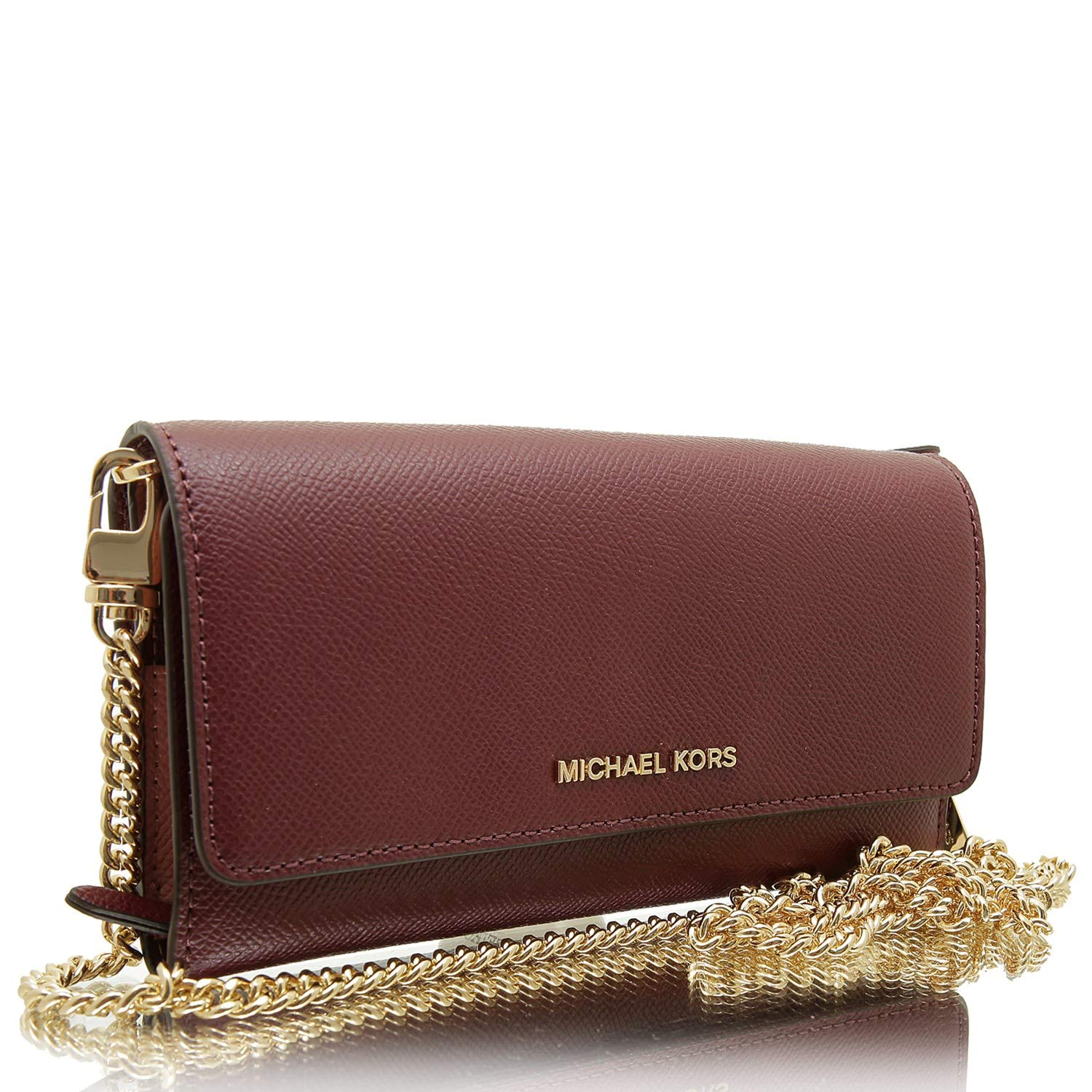 MICHAEL by Michael Kors Large Oxblood Wallet On Chain ...