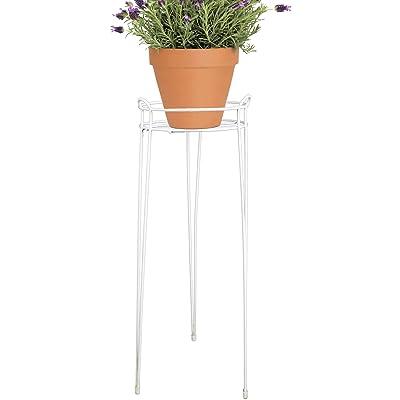 CobraCo 30-Inch White Basic Plant Stand S1030-W : Garden & Outdoor