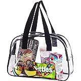 Clear Handbag Purse/ Great for Work, Events, Makeup / NFL Stadium Approved/ Sturdy Transparent Pocketbook