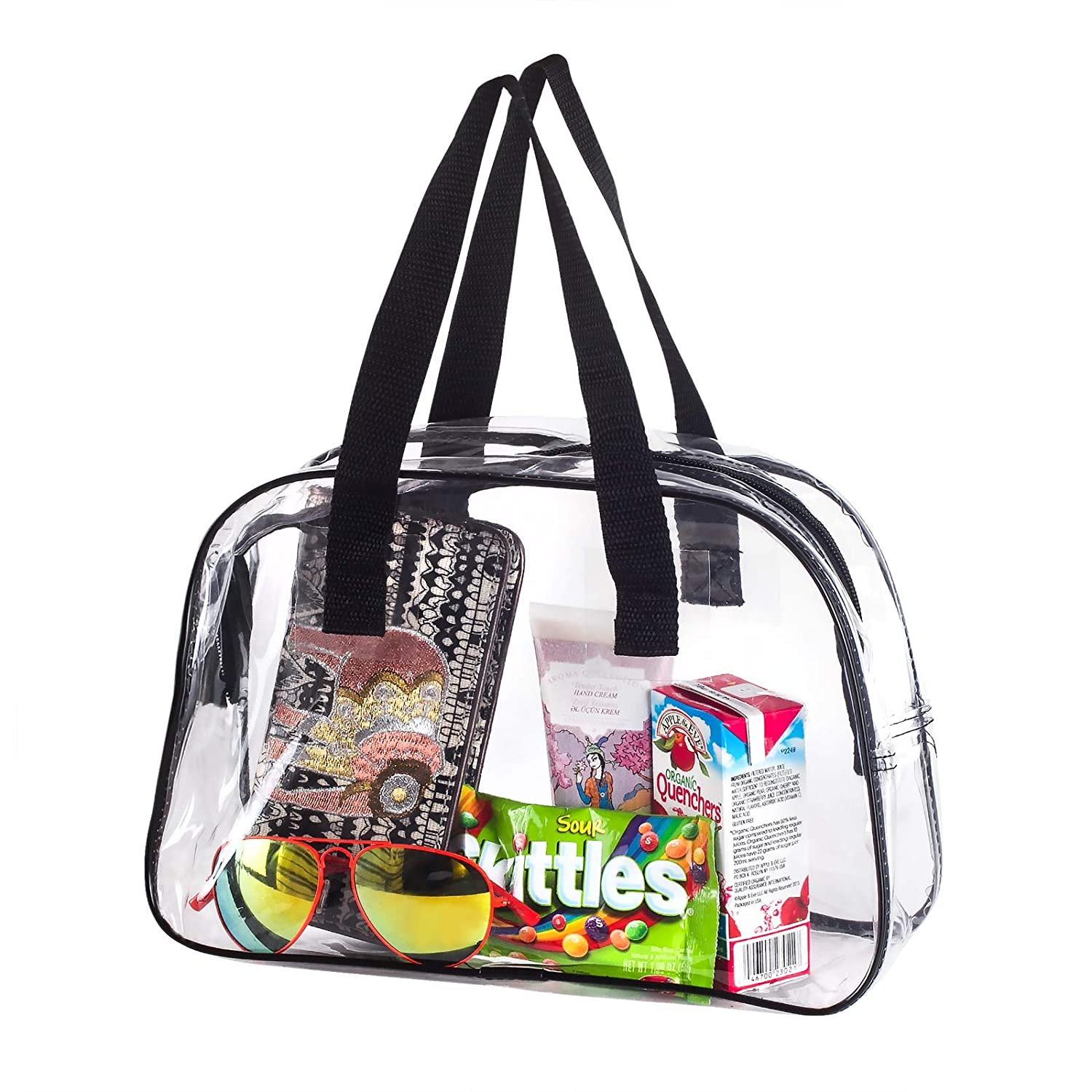 Amazon.com   Clear Purse Stadium Approved Transparent Handbag Plastic Great  for Work 85fcb7c1136a8