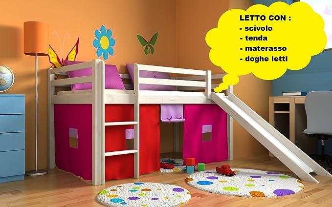 Letti A Castello Con Scivolo : Letto per bambini con scivolo cameratta bambino letto letto a
