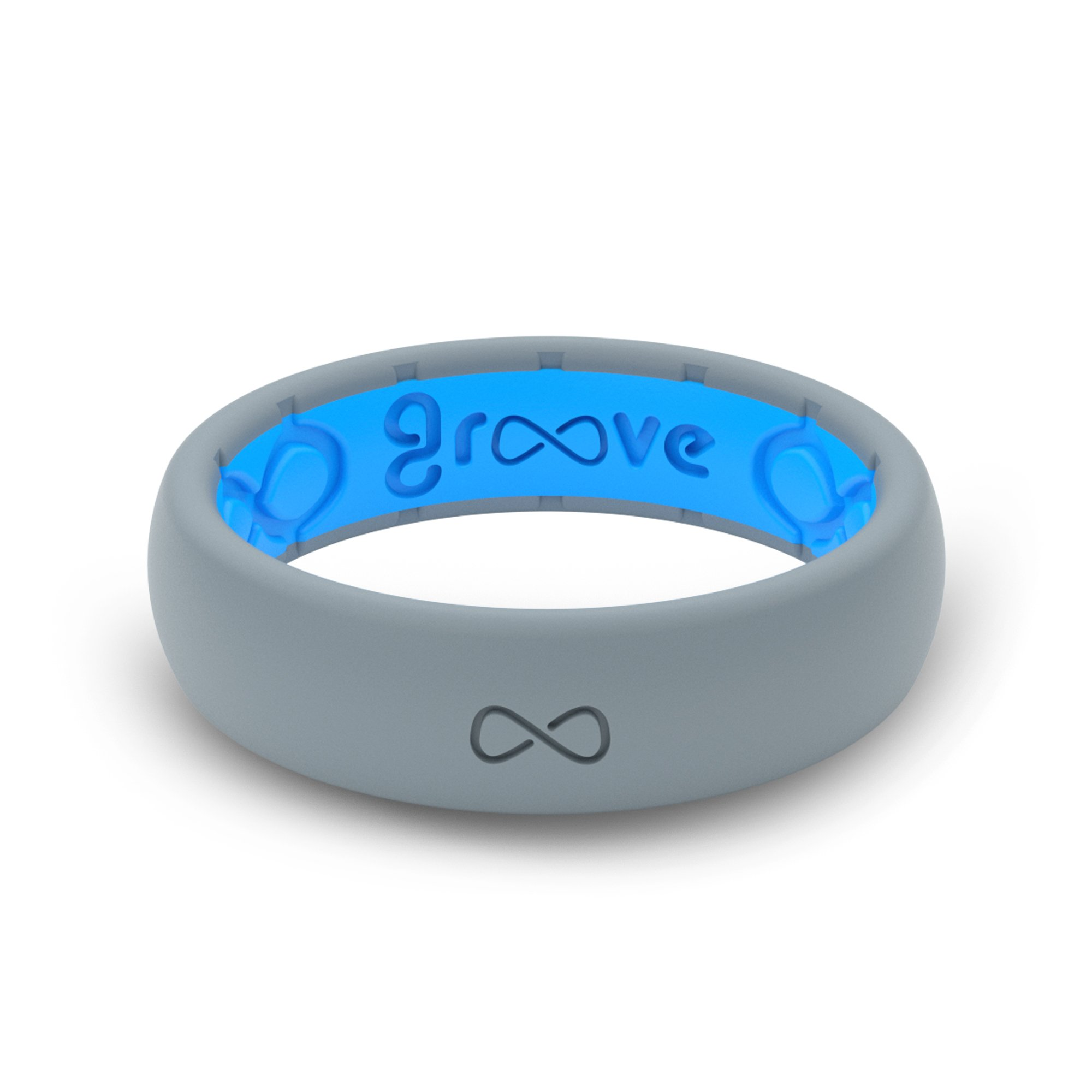Groove Life - Groove Ring The Worlds First Breathable Silicone Ring Thin (Storm Grey/Glacier Blue) (Size 5)