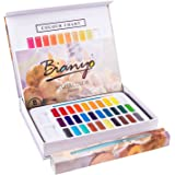 Bianyo Artist 30 Colors Watercolor Set - Vibrant Colors - Art Painting Kit with Paints,Watercolor Paper