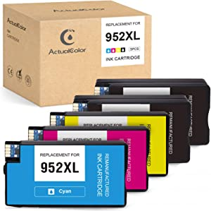 ActualColor C Remanufactured Ink Cartridge Replacement for HP 952 XL 952XL for OfficeJet Pro 8710 8720 8702 8715 7740 7720 8210 8730 8216 8725 Printer (2 Black 1 Cyan 1 Magenta 1 Yellow, 5-Pack)